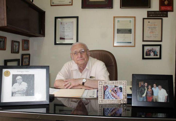 """""""Lo poco o lo mucho que logré se lo debo a Yucatán"""", aseguró el productor yucateco Enrique Vidal. (Milenio Novedades)"""