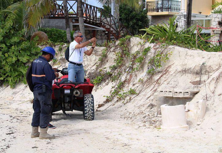 Personal de Zofemat iniciará los procedimientos para que se retire la tubería de drenaje. (Foto: Octavio Martínez/SIPSE)