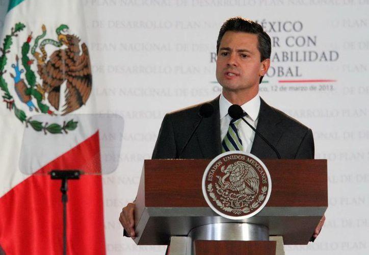 Peña Nieto dijo que su gobierno aspira a que el país fortalezca su voz. (Notimex)