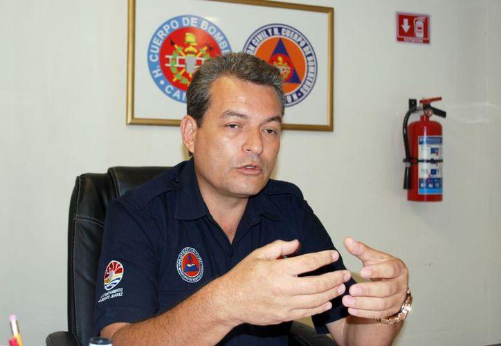 El titular de la dirección de Protección Civil, dijo que a la fecha sólo un vendedor de pirotecnia ha solicitado informes del curso. (Tomás Álvarez/SIPSE)