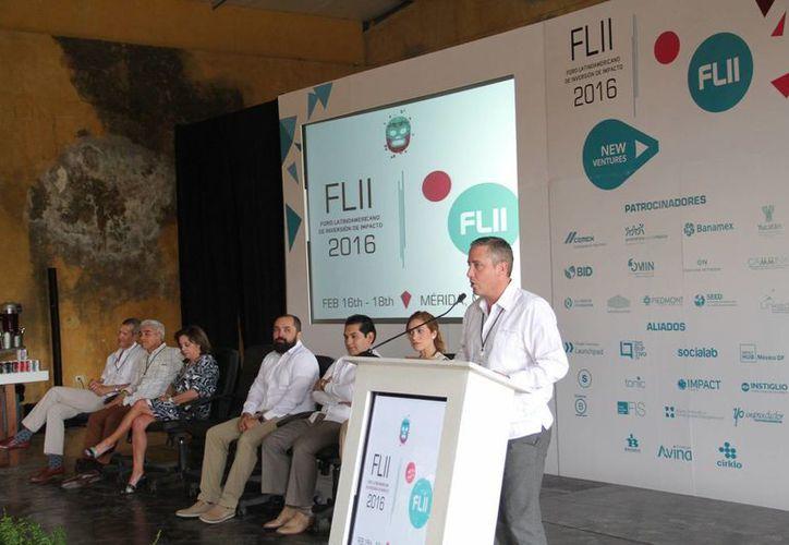 En el inicio del Foro Latinoamericano Internacional de Inversión de Impacto (FLII), su fundador, Rodrigo Villar Esquivel, destacó en Mérida que la inversión de impacto busca alentar el entorno financiero en el ámbito social. (Fotos: Jorge Acosta)