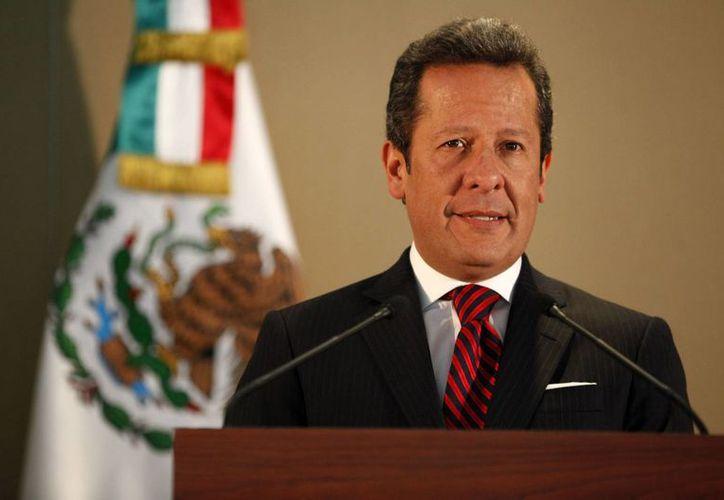 Eduardo Sánchez rechazó de manera contundente los dichos del extitular de la DEA, Phil Jordan, sobre un financiamiento del narcotráfico a la campaña presidencial de Enrique Peña Nieto. (Notimex)
