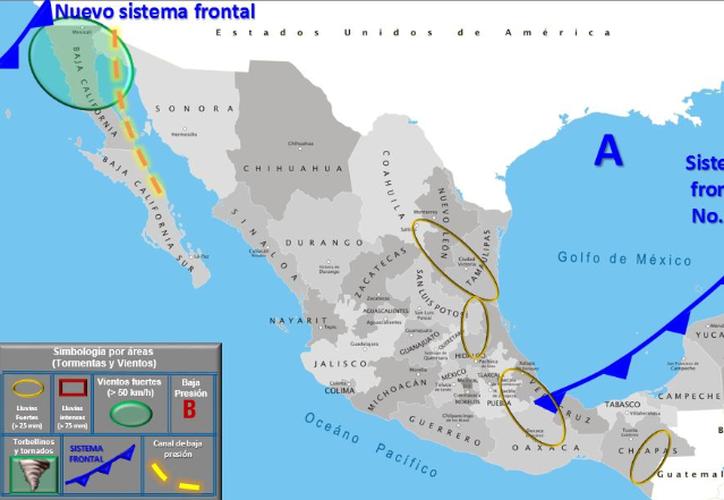 Habrá aire Marítimo Tropical con variable contenido de humedad del Mar Caribe. (Conagua)