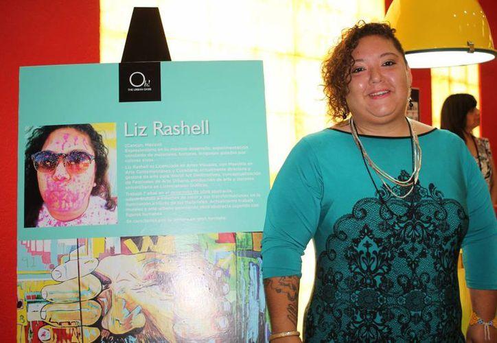 """La colección """"Chatterbox"""", de la artista visual Liz Rashell está expuesta en la Pop Art Galery del hotel Oh By Oasis. (Faride Cetina/SIPSE)"""