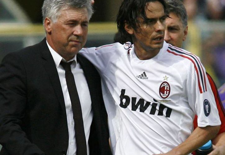 Carlo Ancelotti (i) podría suplir a Filippo Inzaghi en el AC MIlan. (superscommesse.it)