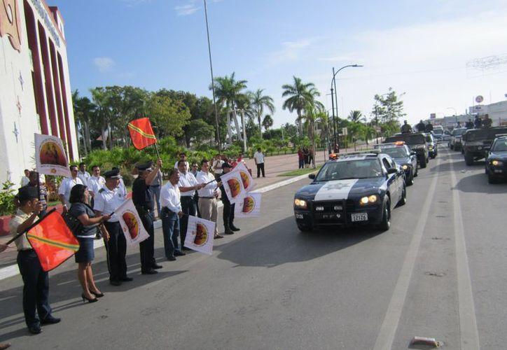 Aunque el operativo arrancó en sí el día 4, fue ayer que se realizó el acto oficial con la participación de fuerzas coordinadas. (Redacción/SIPSE)