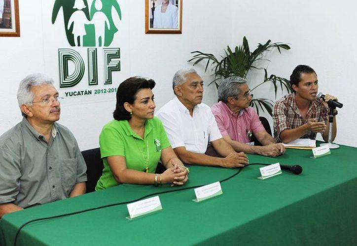 Conferencia de prensa para informar del Campeonato Nacional para Ciegos y Débiles Visuales. (Cortesía)