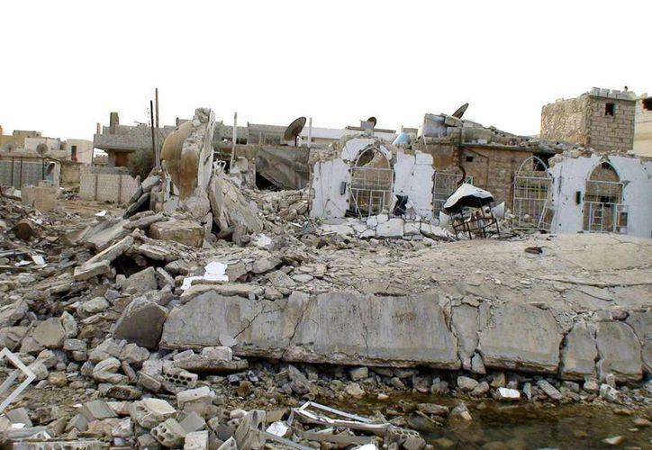 """Taftanaz, al noroeste de Siria, cerca de Alepo, ya es una """"ciudad fantasma"""" al estar casi completamente destruida por los bombardeos del régimen. (EFE/Archivo)"""