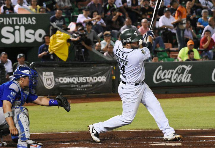 Humberto Sosa estuvo apagado con la majagua después de llegar enrachado produciendo carreras en los últimos juegos. (Foto: Milenio novedades)