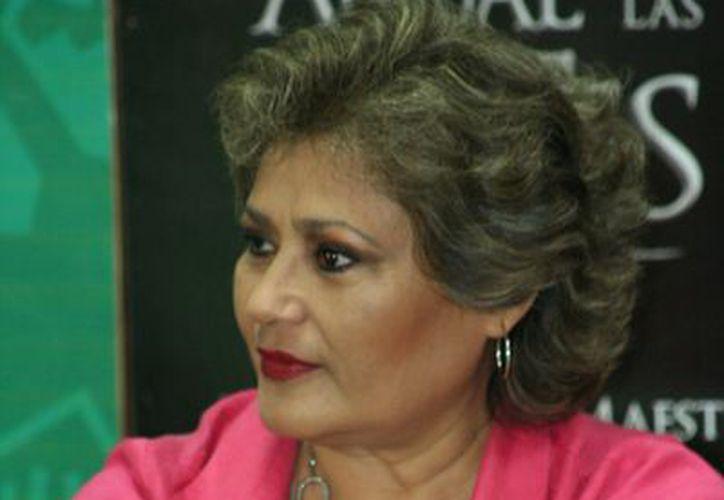 María Medina, siempre vigente en el gusto del público. (SIPSE)
