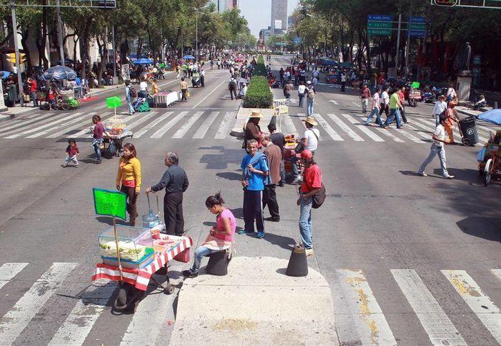 Los profesores causaron caos vehicular en el Centro Histórico capitalino. (Archivo/Notimex)