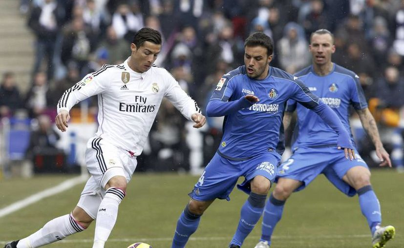 Cristiano anotó el 3-0 del Real Madrid ante el Getafe este domingo. (EFE)