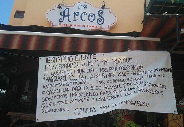 A partir del 1 de abril, Fiscalización verificará los restaurantes que se ubican en la Yaxchilán. (Redacción)