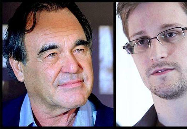 El cineasta Oliver Stone (i) arremetió contra la administración de Obama al presentar su cinta sobre Edward 'Snowden' en San Sebastián. (hollywoodreporter.com)