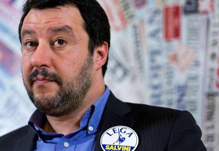 """Matteo Salvini, líder que impulsó a la Liga Norte en Roma contra la """"invasión"""" migratoria. (Foto: El Clarín)"""