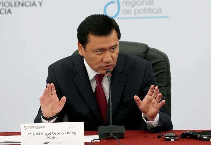 """""""El haber detenido a los líderes (del narcotráfico) ha generado una disputa que ha generado violencia y que por supuesto tampoco podemos permitir"""", dijo el secretario de Gobernación, Miguel Osorio Chong. (NTX)"""