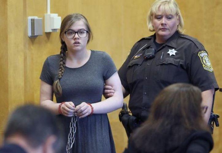 Anissa Weier se declaró culpable en agosto, de ser parte en un intento de homicidio intencional. (Foto: AP)