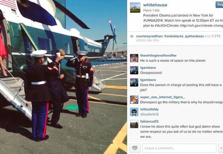 El saludo de Obama causó polémica en redes sociales, ya que se trata de una tradición que inició Ronald Reagan en 1981. (Instagram/The White House)