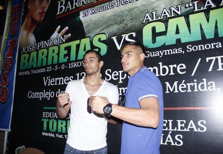 La pelea entre 'Barretas' Pinzón  y 'Amenaza' Campa se llevará a cabo en la Inalámbrica. (Sipse)