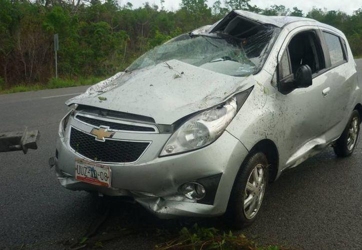 El automóvil fue enviado al corralón municipal, valorado en pérdida total. (Archivo/SIPSE)