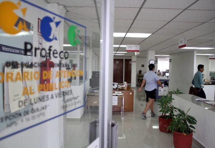 La delegación estatal de la Procuraduría Federal del Consumidor (Profeco), se dijo no han recibido queja alguna por parte de algún cliente. (Sergio Orozco/SIPSE)