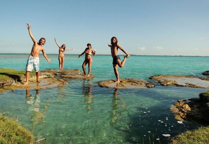 El Pueblo Mágico de Bacalar es uno de los pocos sitios privilegiados en el país donde se puede contar con estromatolitos.