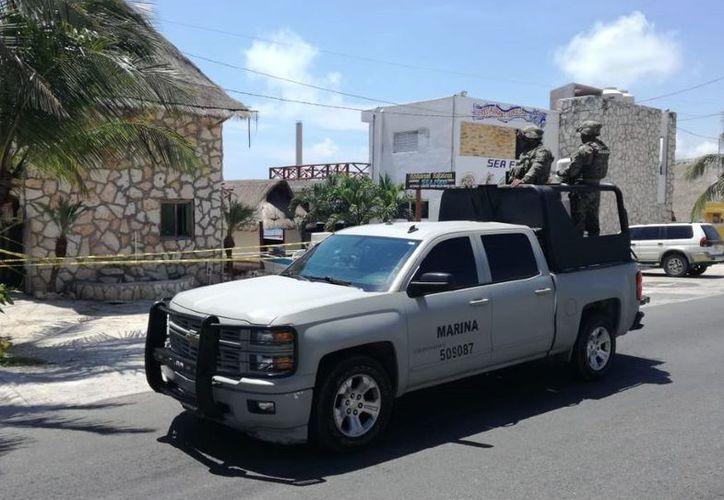 Casa en Punta Sam donde ocurrieron los hechos violentos este viernes. (SIPSE)