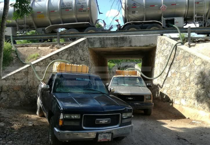 En imagen, uno de los aseguramientos que se ha realizado contra los llamados 'huachicoleros', en Yucatán. (Milenio Novedades)