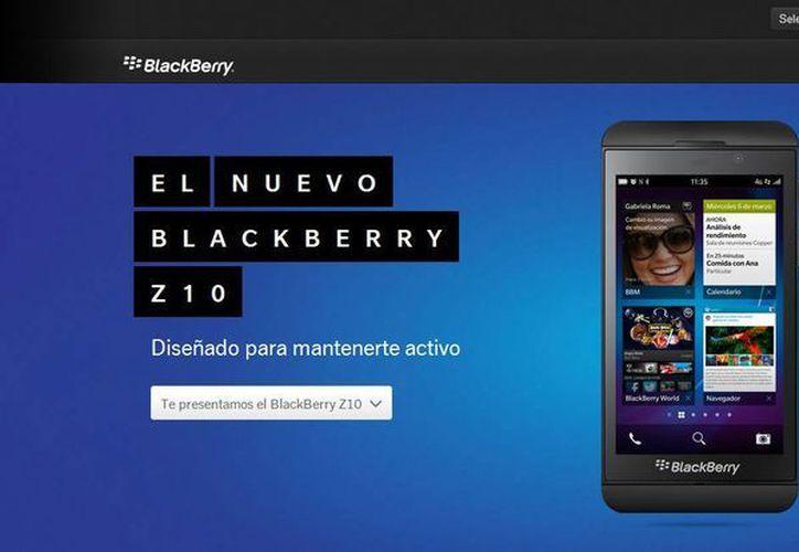 Blackberry 10 estará disponible en el país inicialmente a través de la operadora Telcel con el modelo Z10 de pantalla táctil. (blackberry.com)