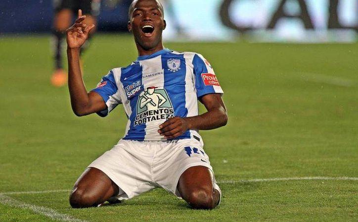 Enner Valencia conquistó el campeonato de goleo con los Tuzos de Pachuca, en el Clausura 2014 con 12 anotaciones. (Foto tomada de Futbol Total)