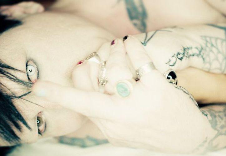 Marilyn Manson se desmayó el sábado durante un concierto en Estados Unidos. (Twitter)