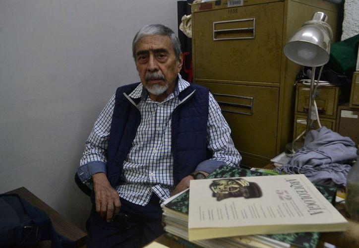 Los descubrimientos realizados por el arqueólogo Rubén Maldonado Cárdenas han sido la base de importantes investigaciones sobre la ancestral cultura en la Península de Yucatán. (Jorge Acosta/Milenio Novedades)