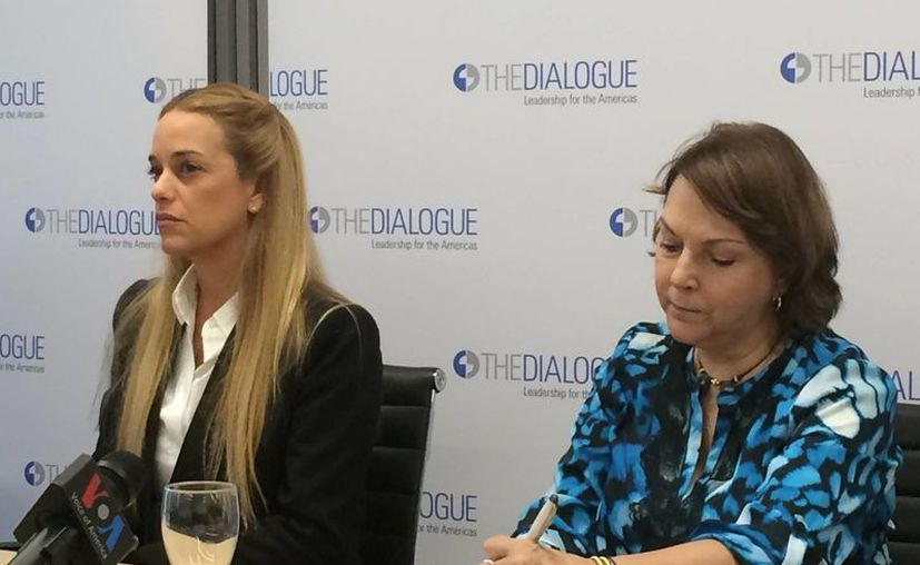 Lilian Tintori, esposa del opositor Leopoldo López, está en Washington para exponer su visión de la dramática crisis que vive Venezuela. (AP/Luis Alonso Lugo)