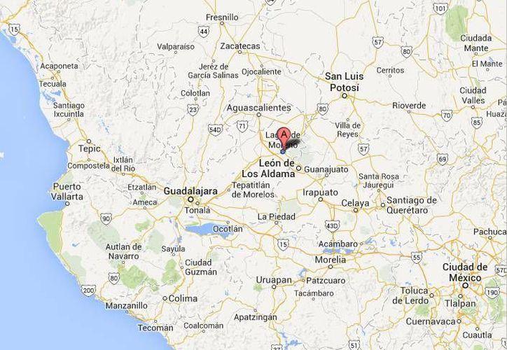 Los crímenes de los jóvenes en Lagos de Moreno ocurrieron entre la noche del 6 de julio y la madrugada del día 7. (Google Maps)