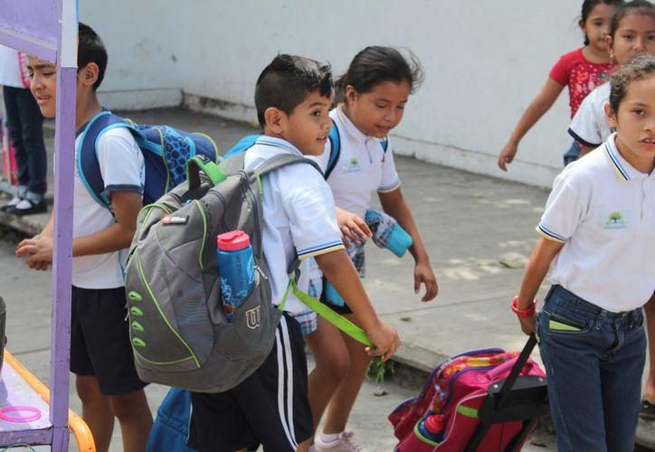 Las empresas compiten para adquirir la licitación de más de 222 mil kits de uniformes. (Joel Zamora/SIPSE)