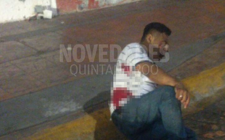 Un taxista fue herido de bala durante la madrugada del lunes en la Av. Yaxchilán de Cancún. (Eric Galindo/SIPSE)