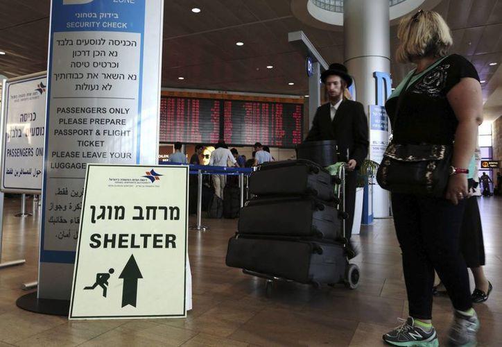 EU había cancelado todos sus vuelos hacia y desde el aeropuerto internacional Ben Gurión de Tel Aviv. (EFE)