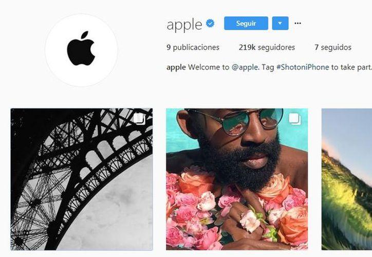 La empresa de Cupertino no podía quedarse alejada de las redes sociales. (Instagram)