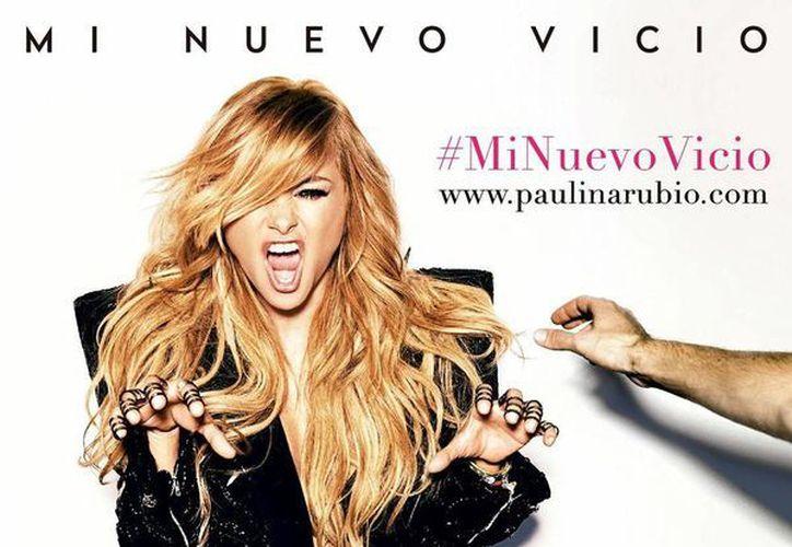 Paulina Rubio publicó en cuentas de Facebook y Twitter la portada de la nueva producción discográfica 'Mi Nuevo Vicio'. (Facebook)