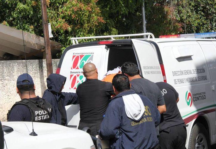 El trailero asesino, como es apodado, fue trasladado a Felipe Carrillo Puerto para que ampliará su declaración. (Manuel Salazar/SIPSE)