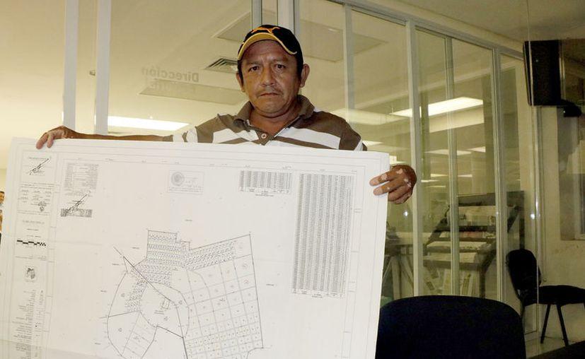 El comisario ejidal de Texán de Palomeque, Rodolfo Koyoc Chuc. (José Acosta/Novedades Yucatán)
