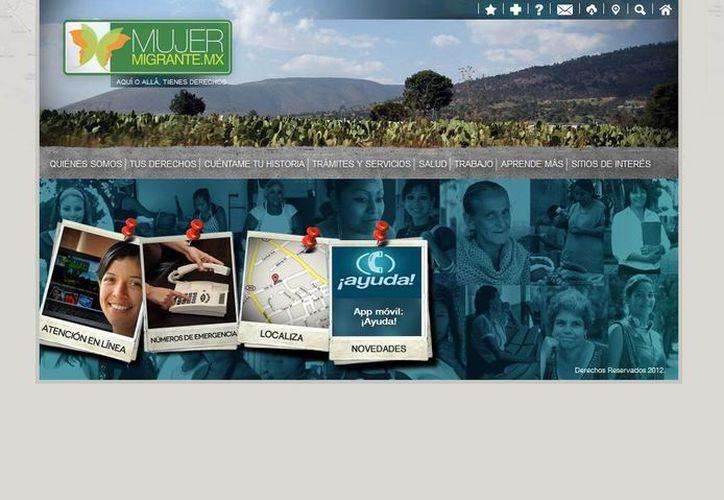 El sitio www.mujermigrante.mx tiene el objetivo de atender las problemáticas de la población. (mujermigrante.mx)