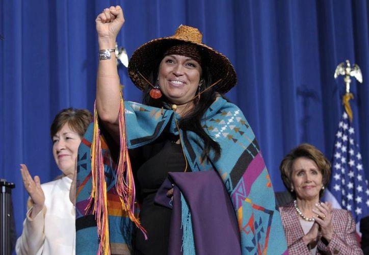 """""""Todas las mujeres merecen el derecho a vivir libres de temor"""", dijo Obama durante el evento. (Agencias)"""
