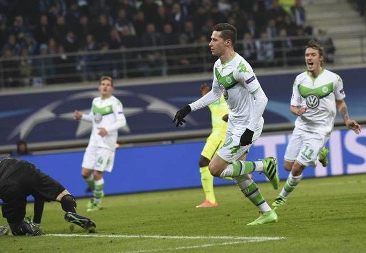 El Wolfsburgo de Alemania derrotó este miércoles con un 2-0 al Gante belga en la ida de los octavos de final de la UEFA Champions League. (EFE)