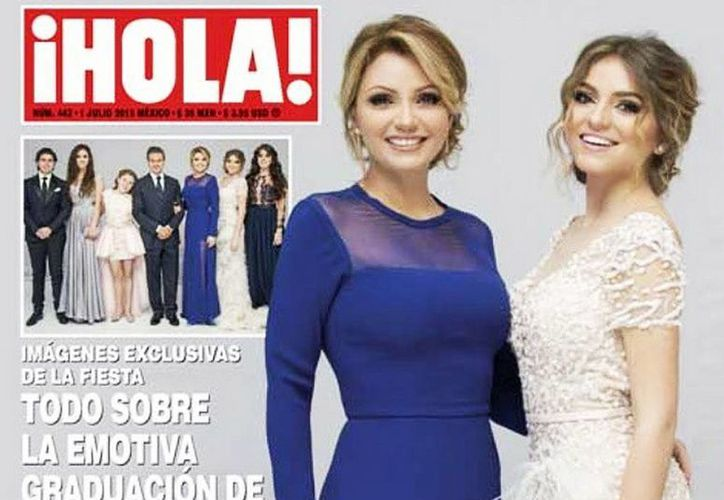 Sofía Castro y Angélica Rivera están en la portada de la revista del corazón ¡Hola! con motivo de la fiesta de graduación de la joven. (Instagram de soficastroidola)