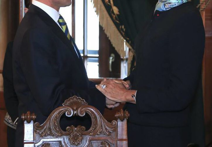 Peña Nieto y Christine Lagarde analizaron los logros del país en el ámbito económico. (Notimex)