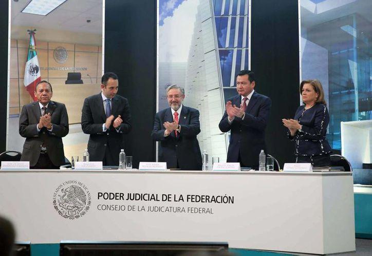 Aguilar Morales afirmó que en la Judicatura Federal por ahora hay un sentimiento de satisfacción por el deber cumplido en este primer paso, que es el de la implementación como lo mandata la Constitución. (Notimex)