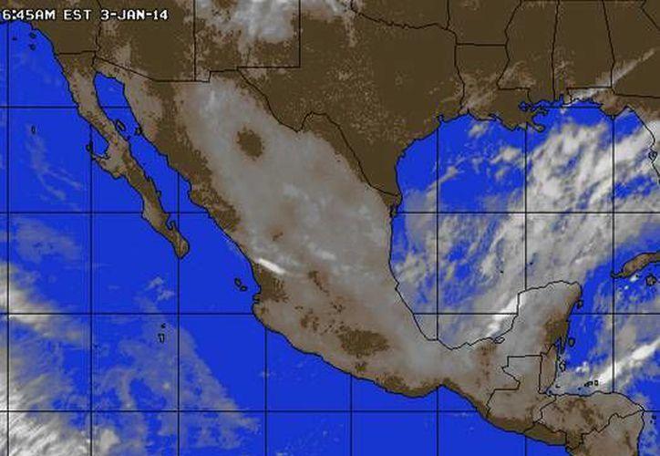 Continúa la entrada de aire marítimo tropical con poco contenido de humedad procedente del Golfo de México y el mar Caribe hacia la Península de Yucatán. (Foto/accuweather.com)