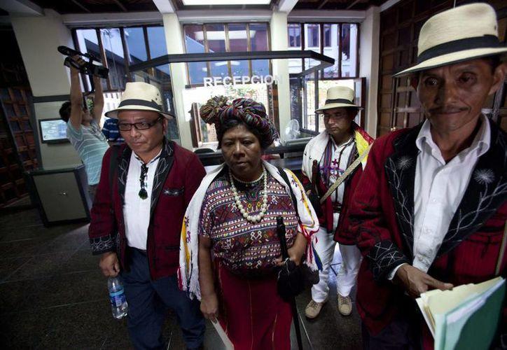 Ixiles pidieron la reanudación del juicio a Rios Montt por genocidio en Guatemala. (EFE)