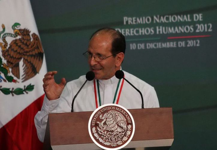 El padre Alejandro Solalinde recibió el pasado 10 de diciembre el Premio Nacional de Derechos Humanos. (Archivo/Notimex)